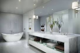 grey bathrooms decorating ideas dark brown varnished wooden frame