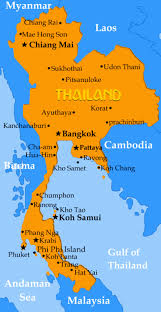 map of thailand asian college of teachers special thailand project