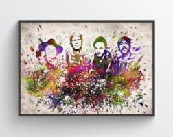 red chili peppers painting rhcp celebrity art red
