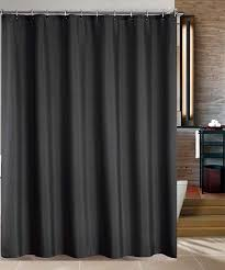 Fabric Shower Curtain With Window Black Swag Shower Curtain