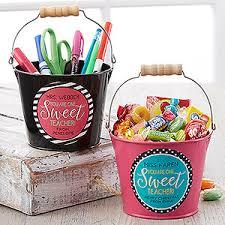 one sweet teacher personalized mini metal bucket reuse