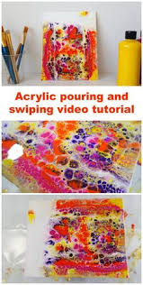 adding artresin to an acrylic pour painting acrylic paintings