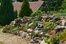 rock gardens on slopes