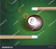 Eight Ball Two Pool Cues Stock Vector Shutterstock