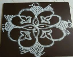 simple 5 to 1 straight dots rangoli design for beginners youtube