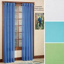 tropical semi sheer grommet curtain panels Turquoise Sheer Curtains