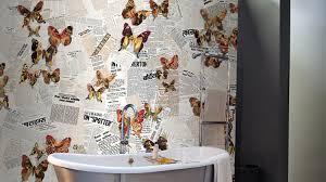 tapeten badezimmer badezimmer tapete waschbares vinyl als schmuckstück für die wände