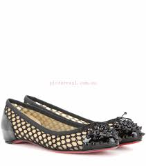 rs359834 black mix embellished patent leather ballerinas christian