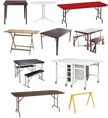best price on folding tables best folding tables for small spaces 2012 apartment therapy