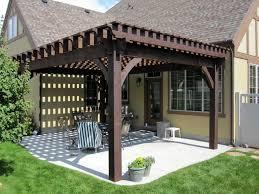 Gazebo On Patio Sized Timber Frame Pergola Arbor Gazebo Kits