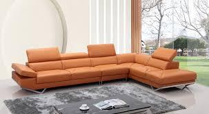 orange leather sectional sofa modern orange leather sectional sofa