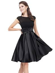 party dresses satin knee length party dress