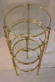 Furniture Round Nesting Tables Bronze Side Table Lucite