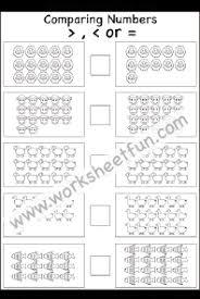 comparing numbers 1 20 u2013 four worksheets free printable