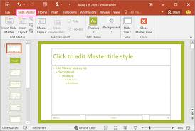 copy and paste a slide master from one presentation to another