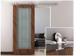 Metal Sliding Barn Doors 6 6ft European Modern Stainless Steel Sliding Barn Wood Door