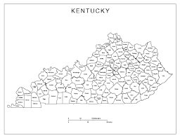 Ohio State County Map by Kentucky Labeled Map