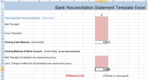Free Bank Statement Template Excel Bank Reconciliation Template Cyberuse