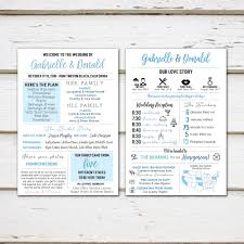 printed programs printed infographic wedding programs unique wedding program