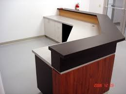 Building A Reception Desk Use Basic Base Cabinets To Build The Desk Around Adds