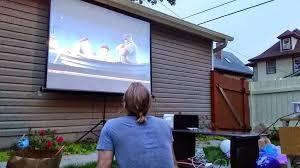 Backyard Movie Night Projector Funbits Hosting Backyard Movie Night Tidbits