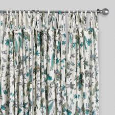 Turquoise And Grey Shower Curtain Curtains Drapes U0026 Window Treatments World Market