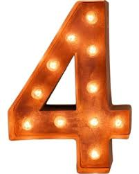marquee numbers with lights new shopping special 12 number 4 four sign vintage marquee lights