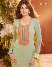 Pista Color by Buy Apparels Shilpa Shetty Pista Colour Georgette Party Wear