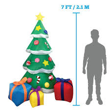 amazon com 7 foot led light up giant christmas tree inflatable