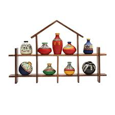 Hanging Wall Decor by Amazon Com Exclusivelane 9 Terracotta Warli Handpainted Pots With