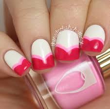 valentine french nail designs