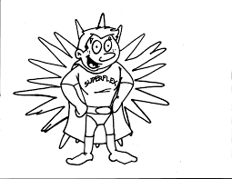 superflex coloring page for each character identify the problem