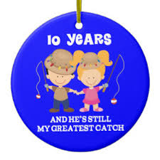 10th wedding anniversary ornaments zazzle ca