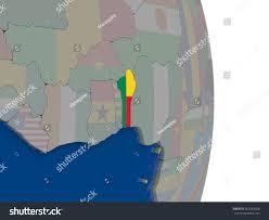 Benin Flag 3d Map Of Benin With Medical Marijuana States Map