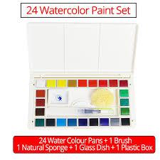 aliexpress com buy 18 24 36colors watercolor paint set high