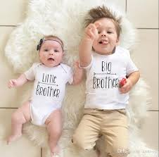baby boys brothers matching big letters print t