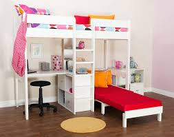 Bunk Beds Stompa Uno Wooden High Sleeper With Futon Chair - High bunk beds
