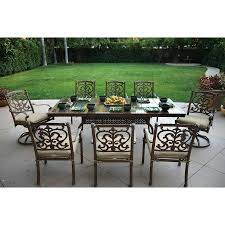 Lowes Patio Furniture Sets - shop darlee santa barbara 9 piece mocha stone patio dining set at