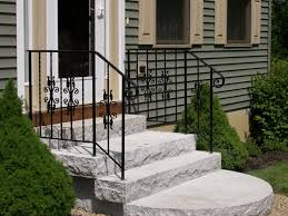 exteriors carved wrought iron exterior handrail for concrete