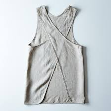 cross linen apron on food52