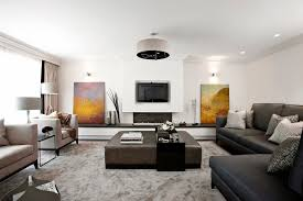 glamorous coffee table with ottomans underneath in living room