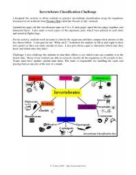 invertebrate classification challenge pdf the science spot