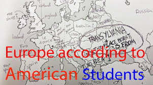 A Map Of Europe Europe According To American Students Americans Were Asked To
