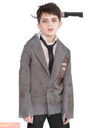 boys zombie costume groom schoolboy jacket shirt halloween fancy