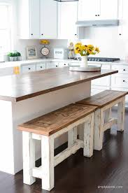 dining and diy projects ana kitchen bench with table white super