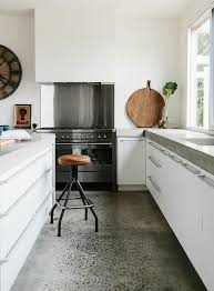 Kitchen Floor Ideas With White Cabinets Best 25 Concrete Kitchen Floor Ideas On Pinterest Concrete