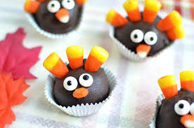 thanksgiving turkey oreo cookie balls recipe