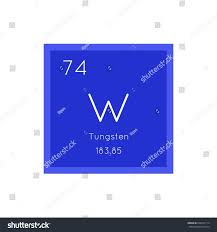 Tungsten Periodic Table Tungsten Simple Style Tile Icon Chemical Stock Vector 604232114