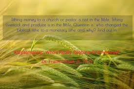 tithing money to a church or pastor is not book teaser 2602