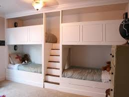 Stunning Bedroom With Cream Wooden Hide Away Bunk Bunk Bed And - Hideaway bunk beds